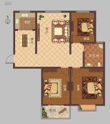 豫大・香港城3室2厅1卫122平方米户型图