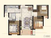 中航国际社区3室2厅1卫89平方米户型图
