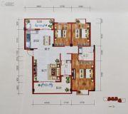 百丰花园3室2厅2卫115平方米户型图