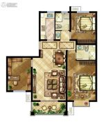 中国铁建原香漫谷3室2厅2卫0平方米户型图