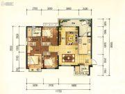 昆明・恒大名都3室2厅2卫122平方米户型图