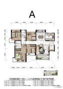 华发国际海岸4室2厅2卫0平方米户型图