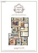 百悦城4室2厅2卫127平方米户型图