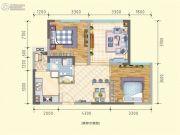 润莱金座2室2厅1卫70--72平方米户型图