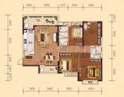 恒大御府4室2厅2卫150平方米户型图