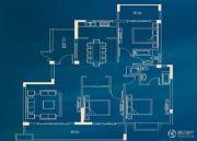 城投・瀚城璞岸3室2厅2卫144平方米户型图