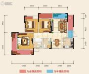 朗润国际广场3室2厅2卫108平方米户型图