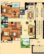 鸿泰华府4室2厅3卫164平方米户型图