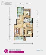 中铁西江悦2室2厅1卫97平方米户型图