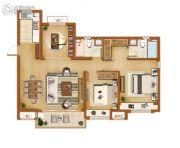 金辉尊域雅苑3室2厅2卫115平方米户型图