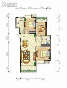 佳源・名人国际花园3室2厅1卫108平方米户型图