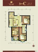 水上人家(翠堤・御墅)3室1厅1卫95平方米户型图