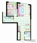中天盛世观澜1室2厅1卫84平方米户型图