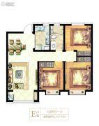 天正・和平里3室2厅1卫107平方米户型图