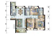 保利碧桂园领秀海3室2厅2卫116平方米户型图