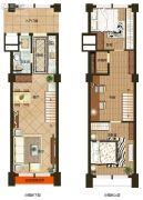 协鑫鑫尚3室2厅2卫49平方米户型图