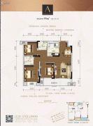 金辉优步花园3室2厅2卫95平方米户型图