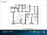 万科兰乔圣菲4室2厅2卫185平方米户型图