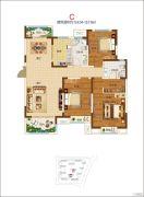 郑开橄榄城3室2厅1卫95--96平方米户型图