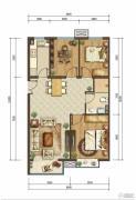 首开国风美唐2室1厅1卫95平方米户型图