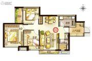 万科里享家3室2厅1卫78平方米户型图