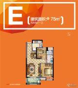 新城�Z悦城2室2厅1卫75平方米户型图