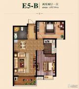 国瑞瑞城2室2厅1卫93平方米户型图