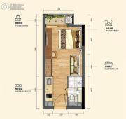 碧桂园松湖珑悦1室1厅1卫26--28平方米户型图