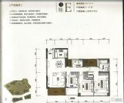 华润银湖蓝山3室2厅2卫157平方米户型图