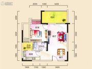 广厦城蜜宫1室2厅1卫0平方米户型图