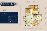 龙光玖龙湾3室2厅2卫118平方米户型图