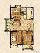 观湖壹号3室2厅1卫102--106平方米户型图