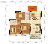 天悦华府3室2厅2卫97平方米户型图