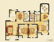 金洋奥澜半岛4室2厅2卫131平方米户型图
