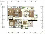 美的君兰江山4室2厅3卫178平方米户型图