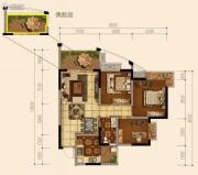 天府欧城3室2厅1卫80平方米户型图