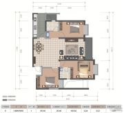 医大广场3室2厅2卫105平方米户型图