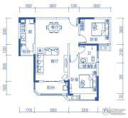 半山�庭2室2厅1卫88平方米户型图