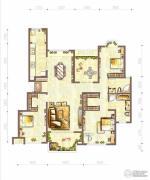 江与城3室2厅2卫130平方米户型图