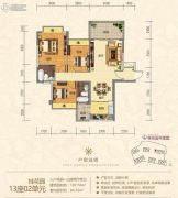 金海湾豪庭3室2厅2卫107平方米户型图