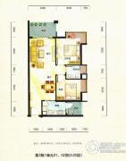 德昌盛景2室2厅1卫77平方米户型图