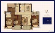 绿地华侨城海珀滨江3室2厅2卫150平方米户型图