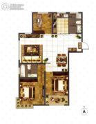 大成门3室2厅2卫129平方米户型图