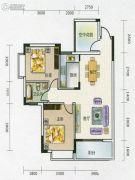 艺海苑2室2厅1卫90平方米户型图