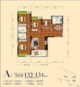 南湖颐景4室2厅2卫132--134平方米户型图