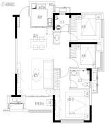 合能枫丹丽舍3室2厅2卫103平方米户型图