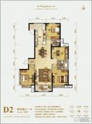 保利花园4室2厅2卫161平方米户型图