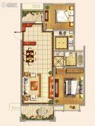 仁和景苑2室2厅1卫103平方米户型图