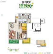 御锦城2室2厅1卫75--77平方米户型图