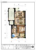 楠溪・云岚1室2厅1卫0平方米户型图